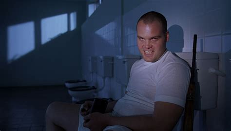 penitentiary movie bathroom scene and so it begins in character vincent d onofrio