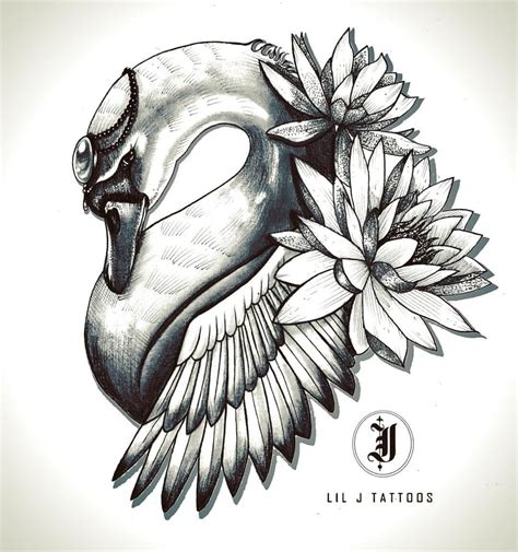 j tattoo design swan design by lil j base 9 tattoos jess o connor