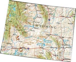 Map Of Wyoming State by Map Of Wyoming Wy State Map