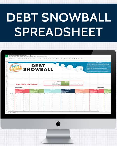 Snowball Spreadsheet by Debt Snowball Spreadsheet 187 One Beautiful Home