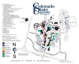 colorado college cus map colorado state pueblo cus map 2200