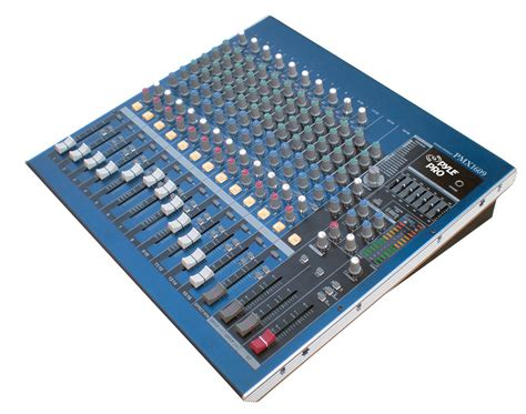 Mixer Audio 16 Channel pro audio pyle dj pmx1609 table top 16 channel mixer stereo 1 4 quot trs cables ebay