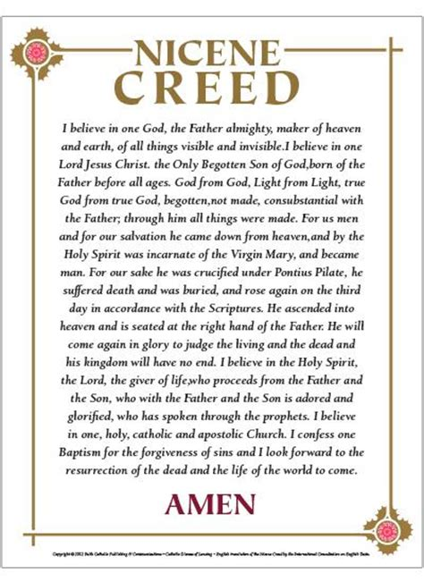 printable version nicene creed new version of the apostles creed my downlodable things