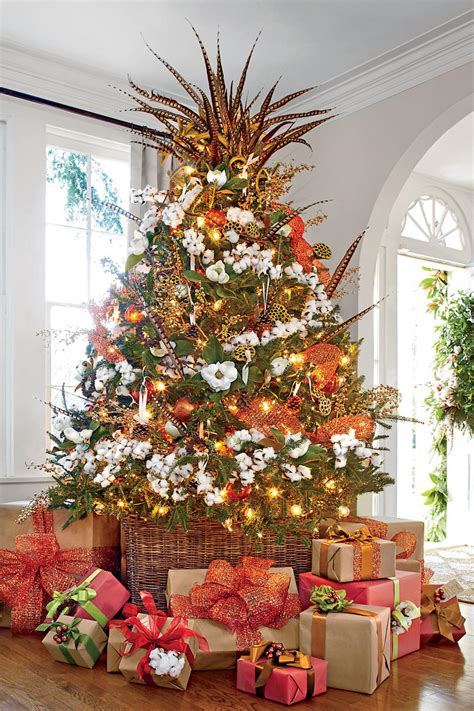 simple but beautiful christmas tree pictures how to flock a tree in 8 simple steps southern living