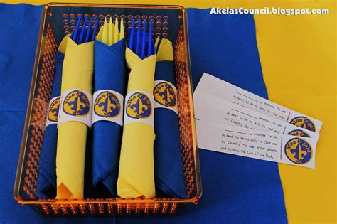 akela s council cub scout leader paper napkin