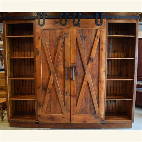Barn Door Cabinets X Barn Door Entertainment Cabinet Furniture From The Barn
