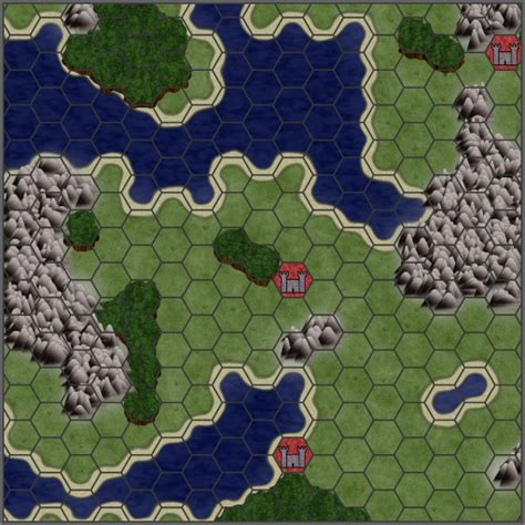 how to make 3d hexagon maps for axis allies miniatures hexagonal game map texture
