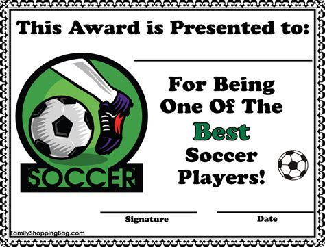 soccer award certificate templates free printable certificates for sports day 9jasports