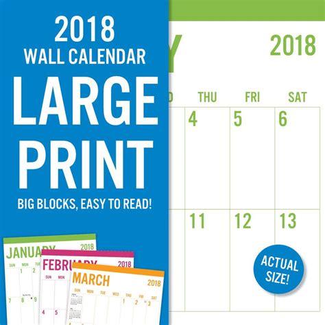 printable calendar 2018 large large print 2018 wall calendar 788958823888 calendars com
