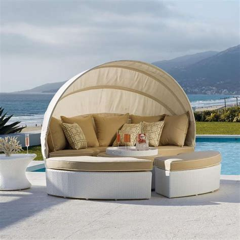 Daybed Yardage Baleares White Modular Lounger Yard Furniture