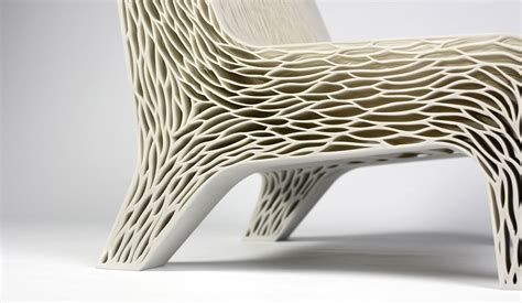 3d Printed Chair by Biomimicry Inspired Soft Seat Makes Comfortable Seating