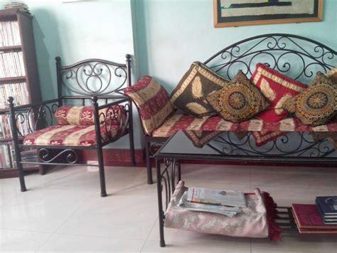 wrought iron sofa set exclusive wrought iron sofa set with divan and center