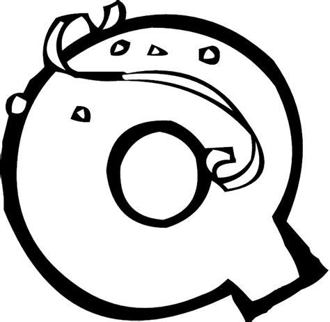 Free Bubble Letter Q Coloring Pages Letter Q Coloring Page