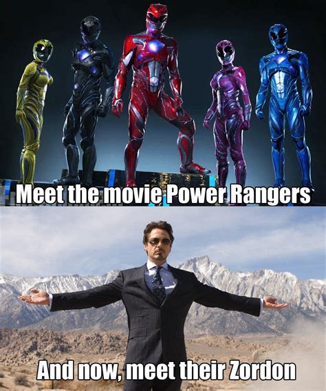 Power Ranger Meme - meet the movie power rangers and now meet their zordon