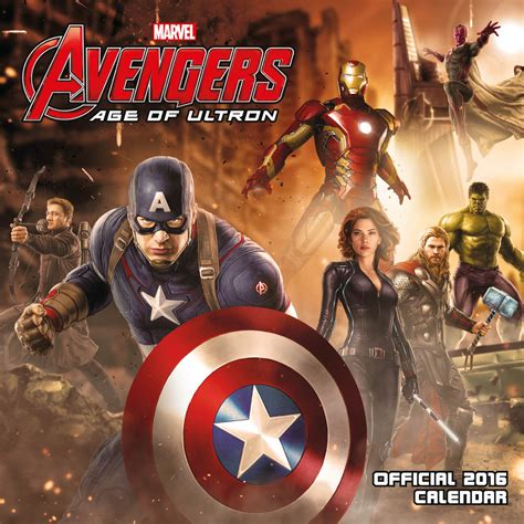 Age Calendar Age Of Ultron Calendars 2018 On Europosters