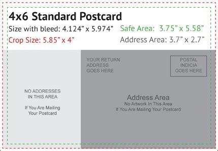 4x6 Standard Postcard Bleed Margins Photography Design Pinterest Standard Postcard Template