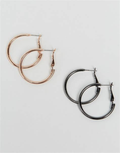 Asos Hoop Earring Pack asos asos pack of 2 simple hoop earrings