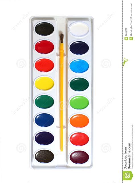 watercolor paints palette royalty free stock photos image 2849258
