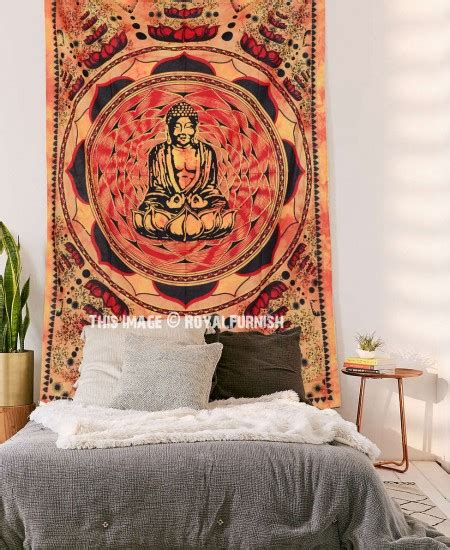 100 monochrome home decor 2015 wall decal buddha orange buddha sitting tapestry small tie dye wall hanging
