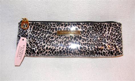 Pouch S Secret Original victorias secret leopard pencil small makeup cosmetic