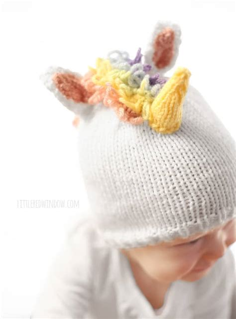 free knitting pattern unicorn hat magical unicorn hat knitting pattern little red window