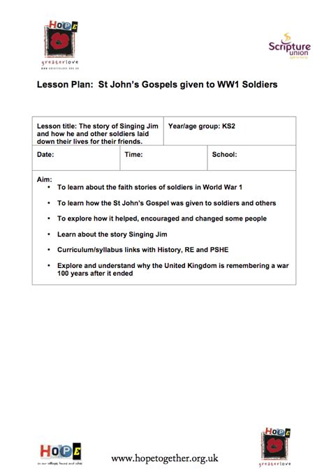 lesson plan template uk ks3 hope together greater love lesson plans these lesson