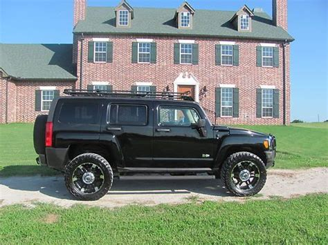 hummer jeep black buy used custom hummer h3 loaded 4x4 black gobi jeep h1 h2