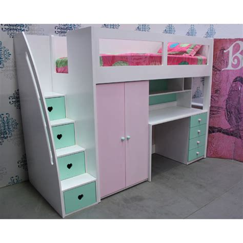 beds with storage drawers melbourne buy kids space saver loft bed frame 1800h online in kids