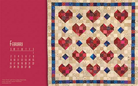 desktop wallpaper quilts free quilt calendar computer wallpaper february quilt