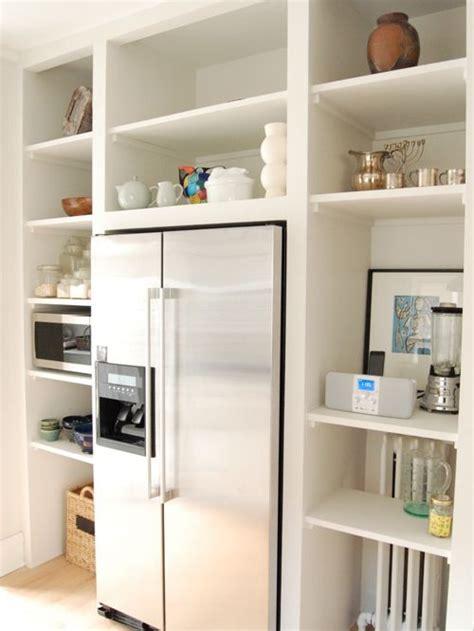 Shelf Above Refrigerator by Shelves Around Refrigerator Home Design Ideas Pictures Remodel And Decor