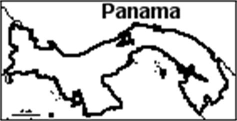 panama map coloring page how to draw map of panama