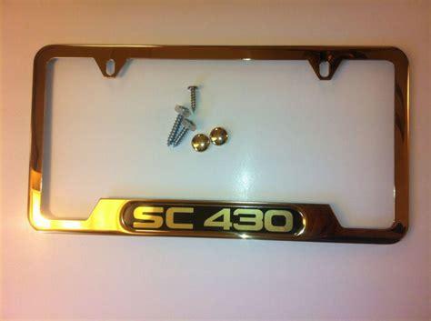lexus license plate frame buy new lexus sc430 24k gold license plate frame