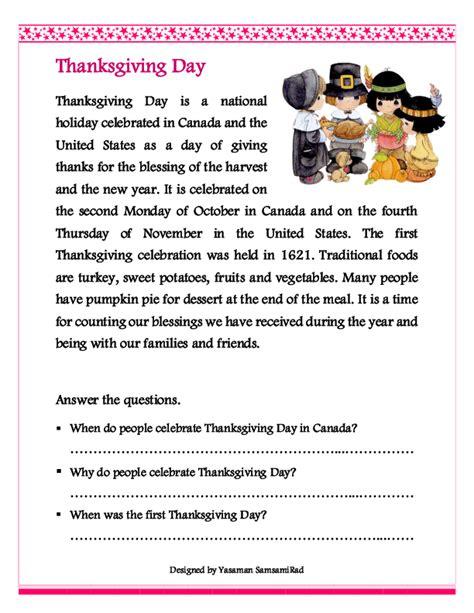 thanksgiving reading comprehension worksheets 66 free thanksgiving worksheets