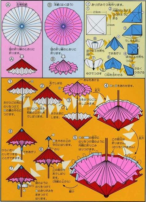 Origami Umbrella Easy - origami umbrella folding origami