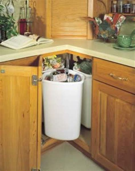 inside cabinet trash can 6 functional options of trash cans for your kitchen