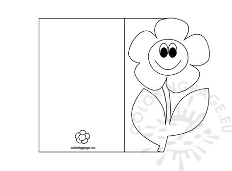 mothers day card templates to color free s day card coloring page