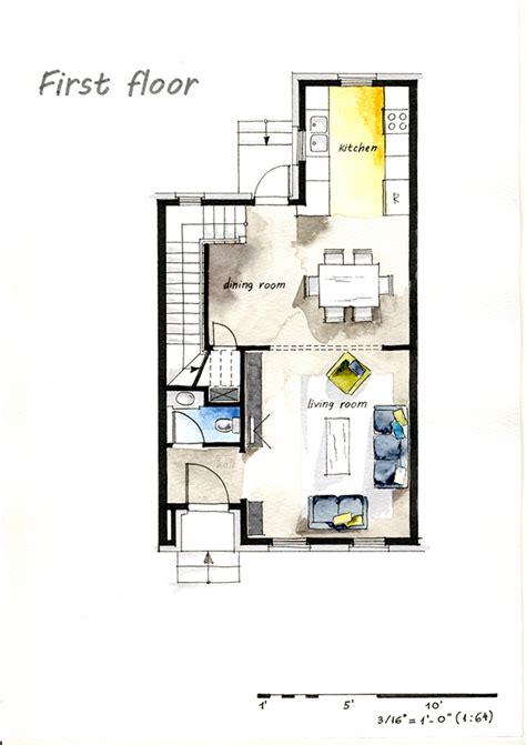 floor plans real estate real estate photography floor real estate watercolor 2d floor plans part 2 on behance