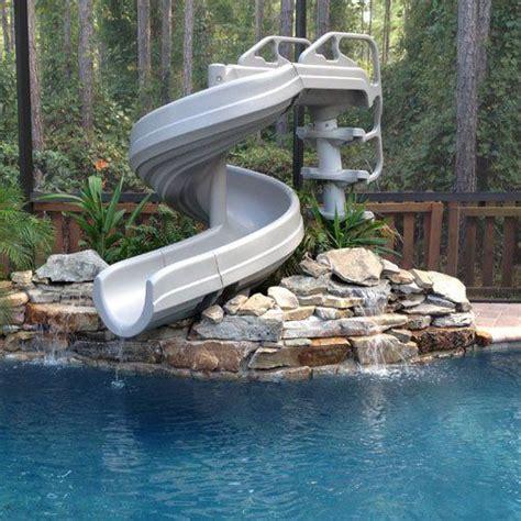 backyard pool water slide best 25 pool slides ideas only on pinterest swimming