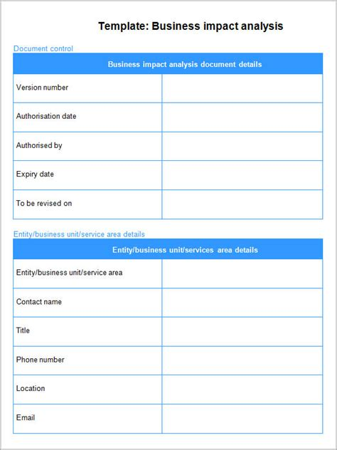 issue impact analysis template issue impact analysis template 28 images business