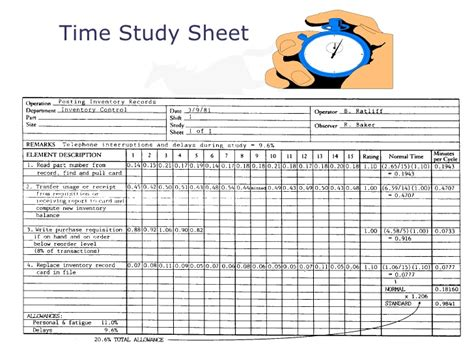time in motion study template designpeoplesystem