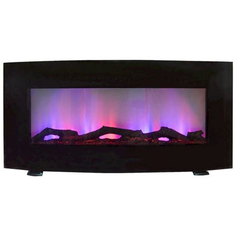 Menards Wall Mount Fireplace by Curved 34 Quot Wall Mount Electric Fireplace At Menards 174