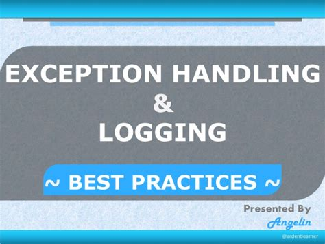 repository pattern exception handling exception handling logging in java best practices