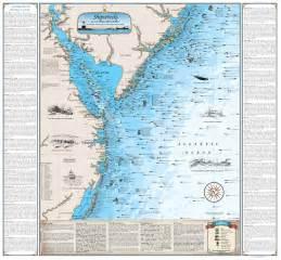 carolina shipwreck map mid atlantic shipwreck chart nautical print map ebay