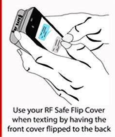 rf safe flip cover case radiation shields  apple iphone