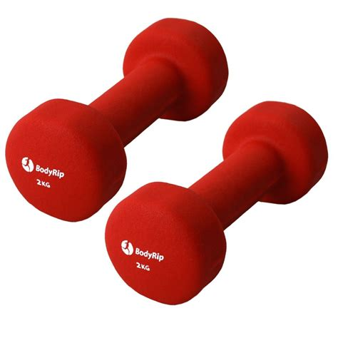 barbel 1kg bodyrip fitness neoprene neo weights dumbbells 1 5kg
