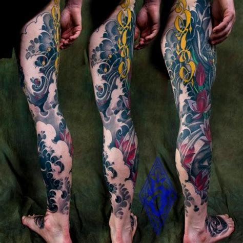 tattoo oriental pierna 10 beautiful japanese wave tattoos tattoodo