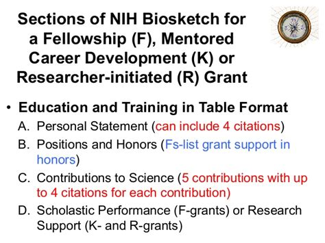 nih grant sections tl1 nrsa f award application workshop and how to prepare