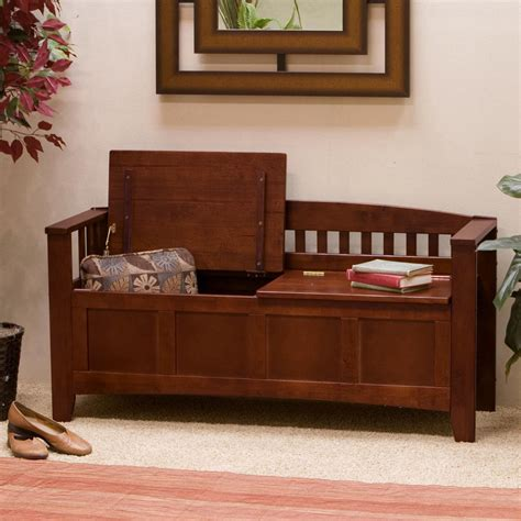 Indoor Storage Bench Entryway Storage Bench Maple Home Decoration Club