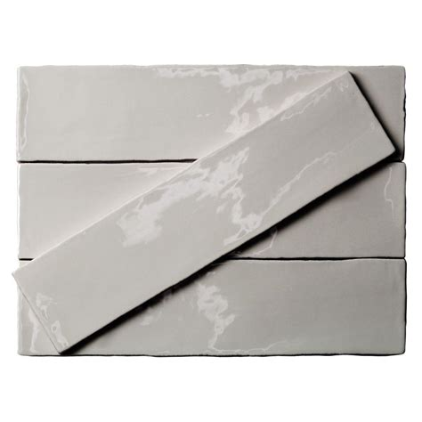 Home Depot Backsplash Kitchen splashback tile catalina gris 3 in x 12 in x 8 mm