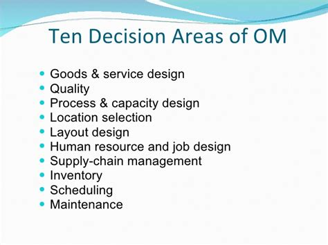 layout design operations management pdf production operations management
